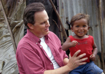 Steve visiting a World Vision helped family in the jungles of Nicaragua.